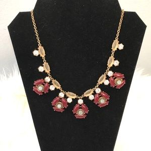 J. Crew Flower Necklace